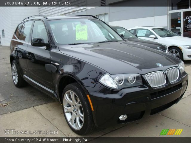jet black 2008 bmw x3 black interior vehicle archive 1718611. Black Bedroom Furniture Sets. Home Design Ideas