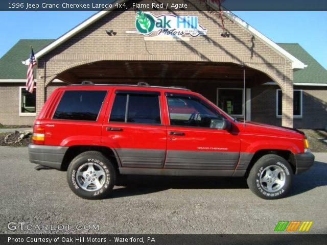 Flame red 1996 jeep grand cherokee laredo 4x4 agate - 1996 jeep grand cherokee interior ...