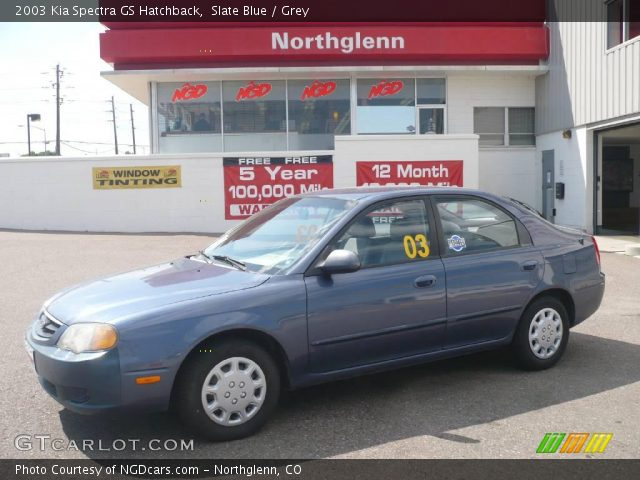 Slate Blue - 2003 Kia Spectra Gs Hatchback - Grey Interior