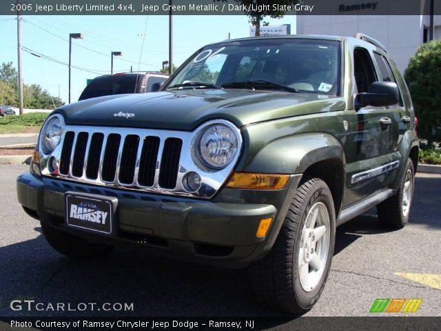 Jeep Green Metallic 2006 Jeep Liberty Limited 4x4 Dark Light Slate Gray Interior Gtcarlot