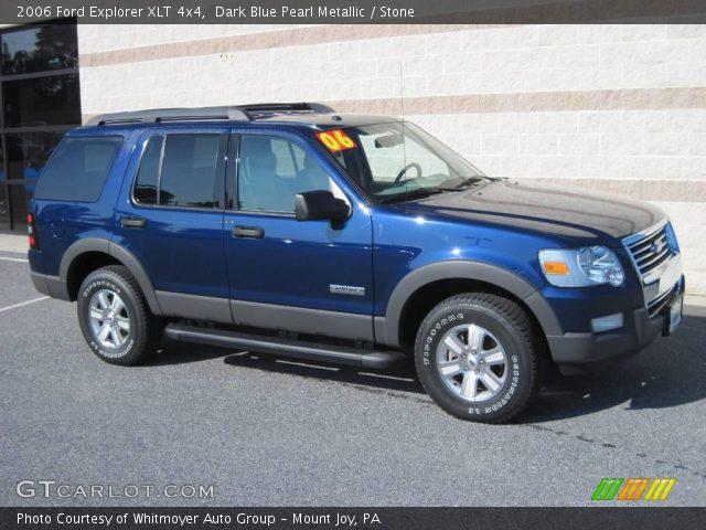 Dark Blue Pearl Metallic 2006 Ford Explorer XLT 4x4 Stone Interior GTCa