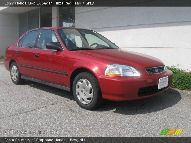 inza red pearl 1997 honda civic lx sedan gray interior vehicle archive. Black Bedroom Furniture Sets. Home Design Ideas