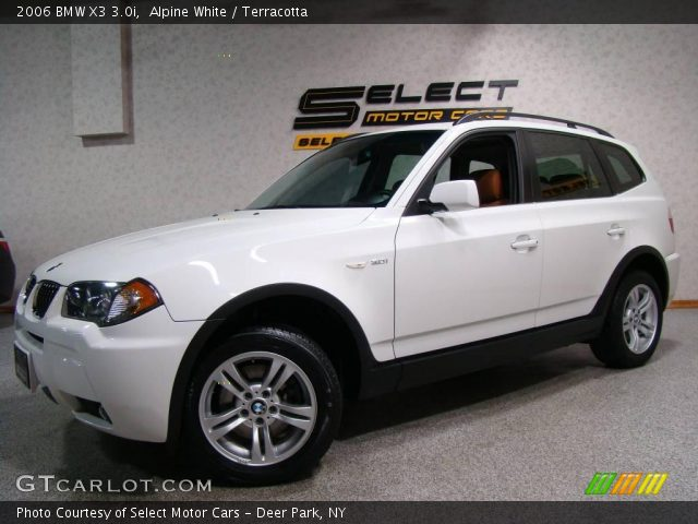 alpine white 2006 bmw x3 terracotta interior vehicle archive 17320719. Black Bedroom Furniture Sets. Home Design Ideas