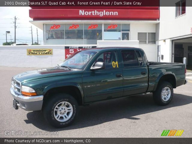 forest green pearl 2001 dodge dakota slt quad cab 4x4. Black Bedroom Furniture Sets. Home Design Ideas