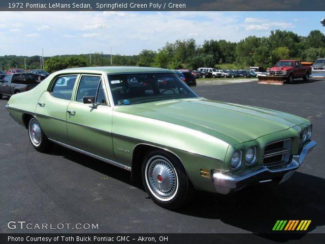Springfield Green Poly 1972 Pontiac Lemans Sedan Green