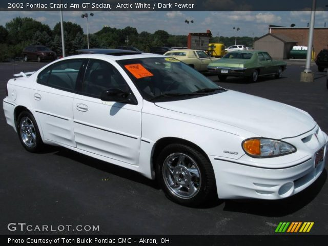 arctic white 2002 pontiac grand am gt sedan dark pewter interior vehicle. Black Bedroom Furniture Sets. Home Design Ideas