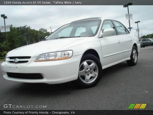 Taffeta White 1999 Honda Accord Ex V6 Sedan Ivory
