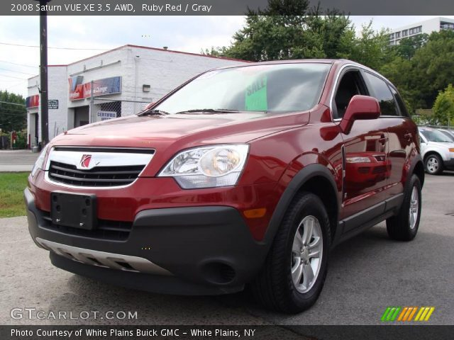 ruby red 2008 saturn vue xe 3 5 awd gray interior vehicle archive 17618737. Black Bedroom Furniture Sets. Home Design Ideas