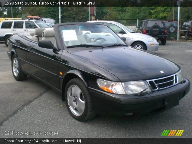 black 1998 saab 900 se turbo convertible grey interior. Black Bedroom Furniture Sets. Home Design Ideas
