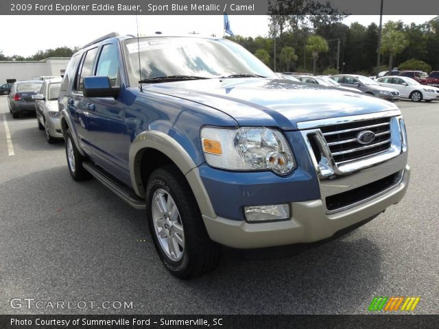 sport blue metallic 2009 ford explorer eddie bauer camel interior vehicle. Black Bedroom Furniture Sets. Home Design Ideas