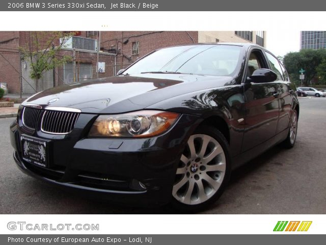 jet black 2006 bmw 3 series 330xi sedan beige interior vehicle archive. Black Bedroom Furniture Sets. Home Design Ideas