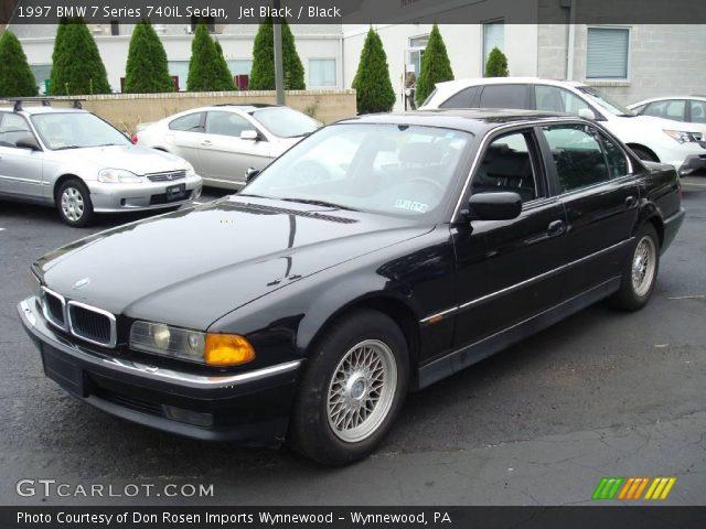 jet black 1997 bmw 7 series 740il sedan black interior. Black Bedroom Furniture Sets. Home Design Ideas