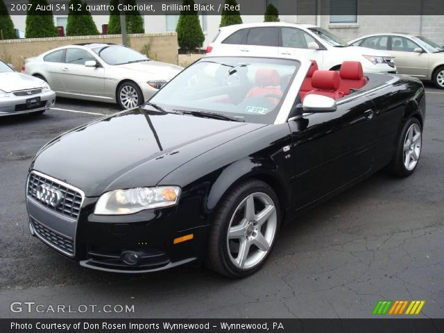 brilliant black 2007 audi s4 4 2 quattro cabriolet red interior vehicle. Black Bedroom Furniture Sets. Home Design Ideas