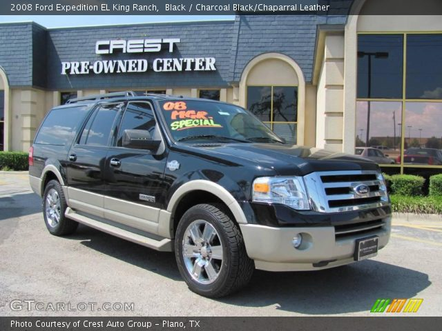 black 2008 ford expedition el king ranch charcoal. Black Bedroom Furniture Sets. Home Design Ideas