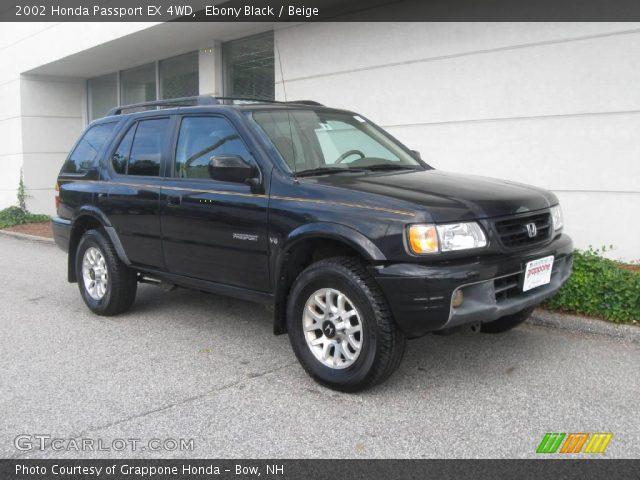 Ebony Black 2002 Honda Passport Ex 4wd Beige Interior Vehicle Archive 17743249