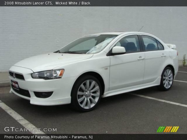 wicked white 2008 mitsubishi lancer gts black interior. Black Bedroom Furniture Sets. Home Design Ideas