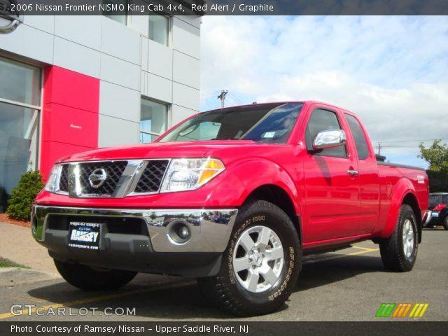 red alert 2006 nissan frontier nismo king cab 4x4 graphite interior vehicle. Black Bedroom Furniture Sets. Home Design Ideas