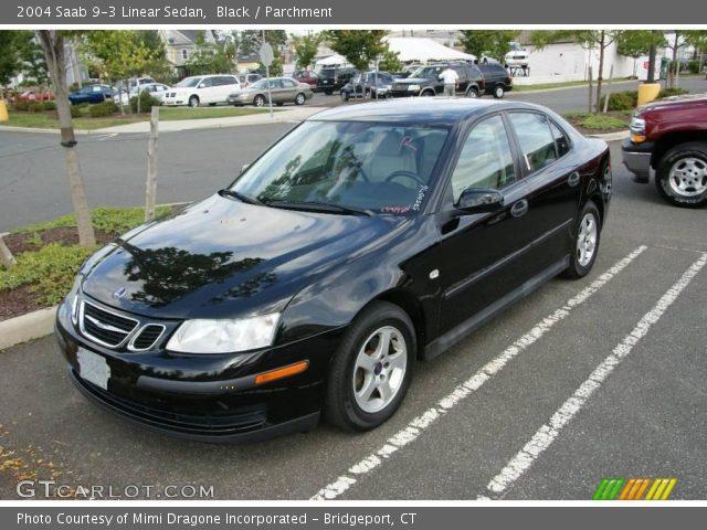 black 2004 saab 9 3 linear sedan parchment interior vehicle archive 17742251. Black Bedroom Furniture Sets. Home Design Ideas