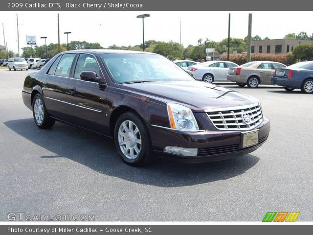 black cherry 2009 cadillac dts shale cocoa interior. Black Bedroom Furniture Sets. Home Design Ideas