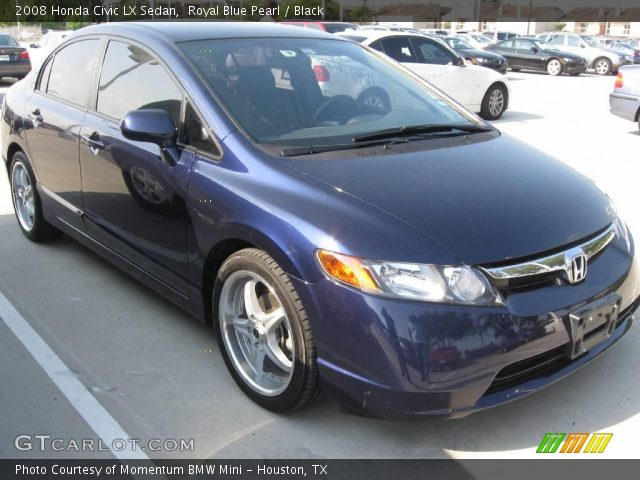 royal blue pearl 2008 honda civic lx sedan black interior vehicle archive. Black Bedroom Furniture Sets. Home Design Ideas