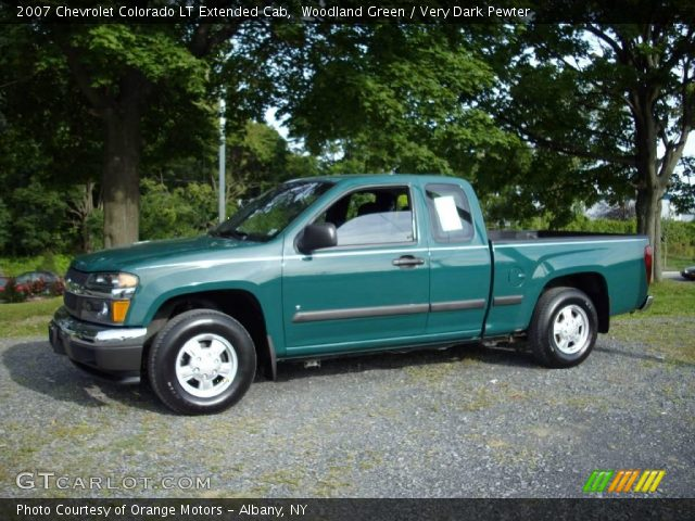 Woodland green 2007 chevrolet colorado lt extended cab for Woodland motors used cars