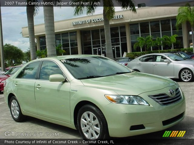 jasper green pearl 2007 toyota camry hybrid ash interior vehicle archive. Black Bedroom Furniture Sets. Home Design Ideas