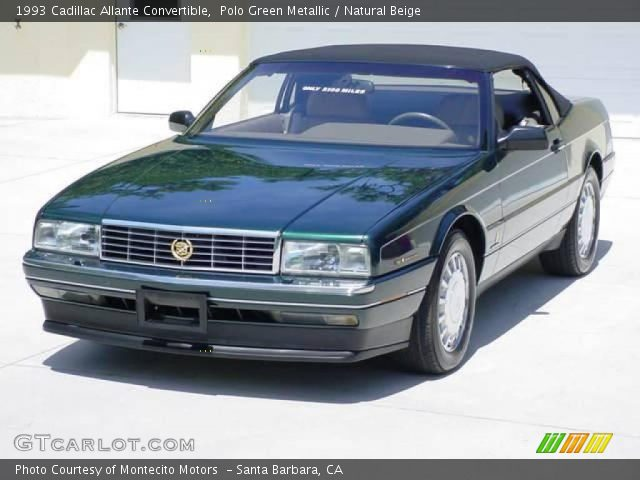 1993 Cadillac Allante Convertible in Polo Green Metallic