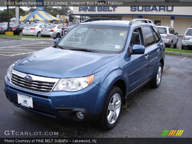 newport blue pearl 2009 subaru forester 2 5 x limited. Black Bedroom Furniture Sets. Home Design Ideas