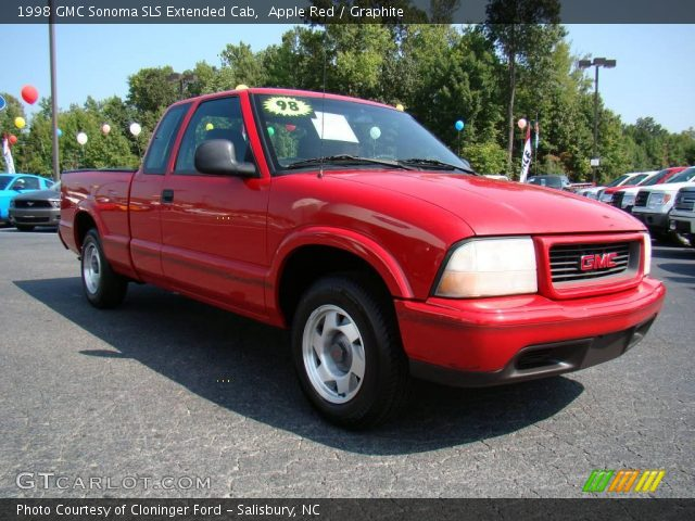 apple red 1998 gmc sonoma sls extended cab graphite interior vehicle. Black Bedroom Furniture Sets. Home Design Ideas