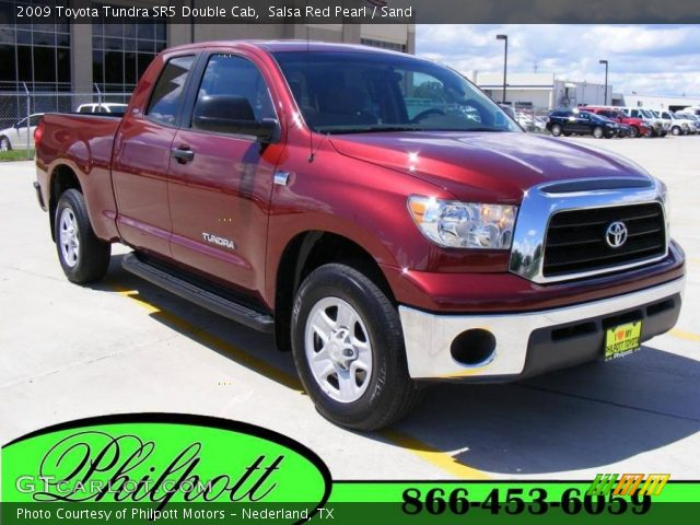 salsa red pearl 2009 toyota tundra sr5 double cab sand interior vehicle. Black Bedroom Furniture Sets. Home Design Ideas