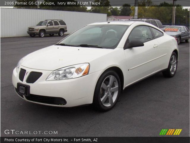 Ivory White 2006 Pontiac G6 Gtp Coupe Light Taupe Interior Vehicle Archive