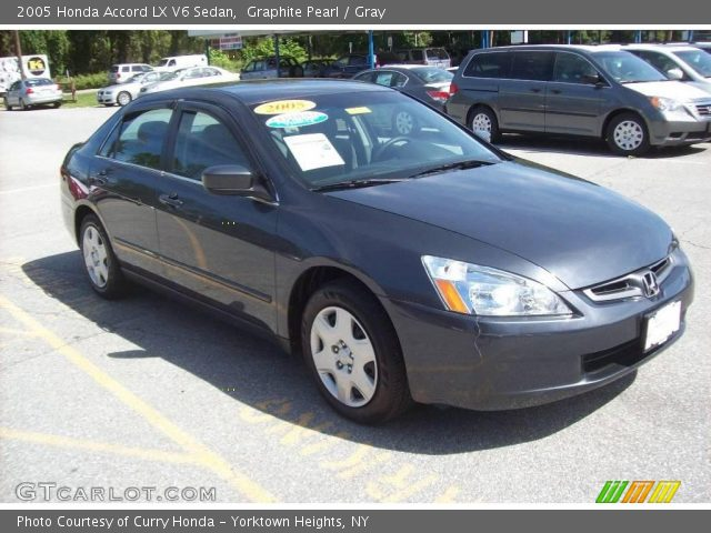 graphite pearl 2005 honda accord lx v6 sedan gray interior vehicle archive. Black Bedroom Furniture Sets. Home Design Ideas