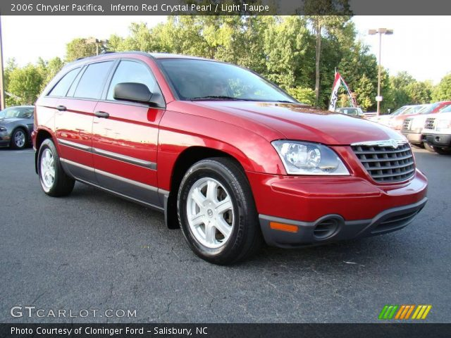 Inferno Red Crystal Pearl 2006 Chrysler Pacifica Light Taupe Interior