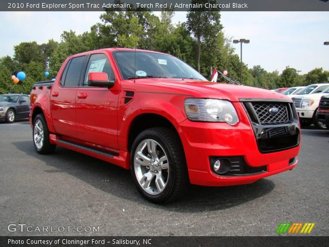 Torch Red 2010 Ford Explorer Sport Trac Adrenalin with Adrenalin
