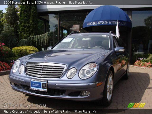 platinum blue metallic 2006 mercedes benz e 350 wagon ash interior vehicle. Black Bedroom Furniture Sets. Home Design Ideas