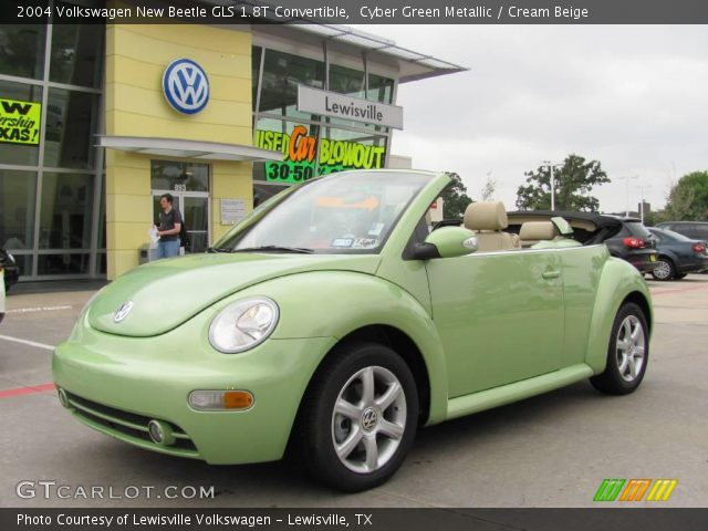 2004 Volkswagen New Beetle GLS 1.8T Convertible in Cyber Green Metallic
