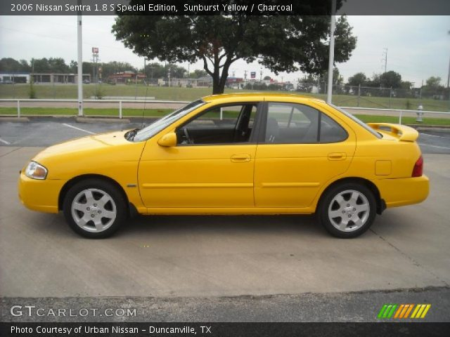 sunburst yellow 2006 nissan sentra 1 8 s special edition charcoal interior. Black Bedroom Furniture Sets. Home Design Ideas