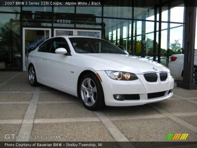 alpine white 2007 bmw 3 series 328i coupe black interior vehicle archive. Black Bedroom Furniture Sets. Home Design Ideas