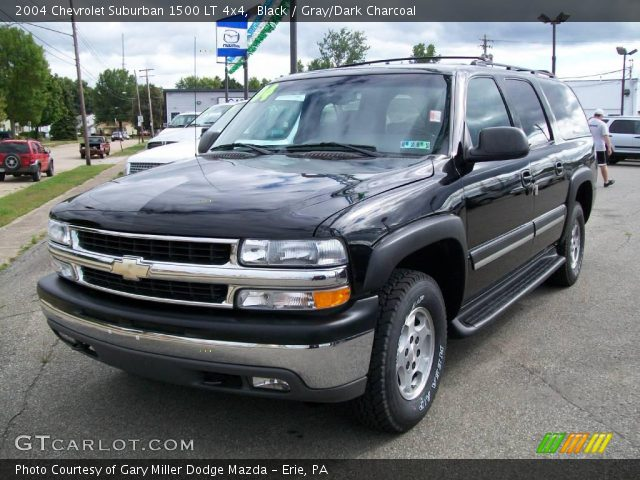 black 2004 chevrolet suburban 1500 lt 4x4 gray dark. Black Bedroom Furniture Sets. Home Design Ideas