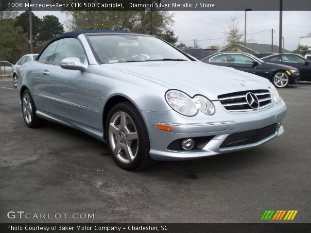 Diamond silver metallic 2006 mercedes benz clk 500 for 2006 mercedes benz clk 500