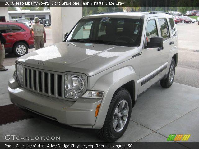 Light Graystone Pearl 2008 Jeep Liberty Sport Pastel Slate Gray Interior