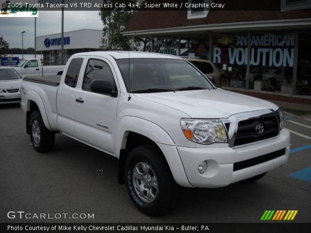 super white 2005 toyota tacoma v6 trd access cab 4x4. Black Bedroom Furniture Sets. Home Design Ideas