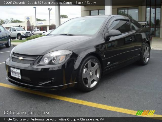 black 2006 chevrolet cobalt ss supercharged coupe ebony interior vehicle. Black Bedroom Furniture Sets. Home Design Ideas