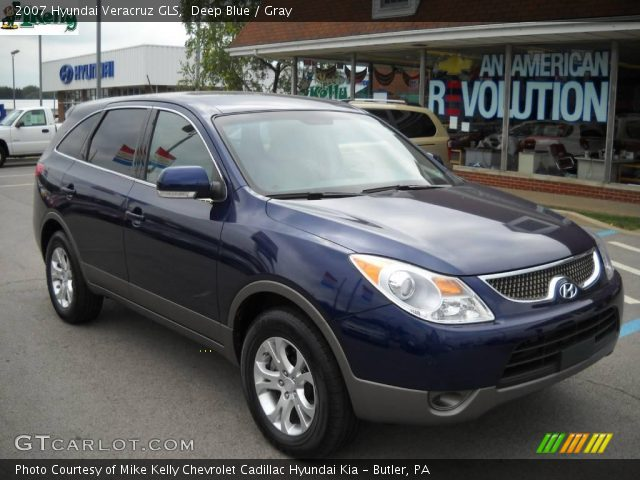 deep blue 2007 hyundai veracruz gls gray interior. Black Bedroom Furniture Sets. Home Design Ideas