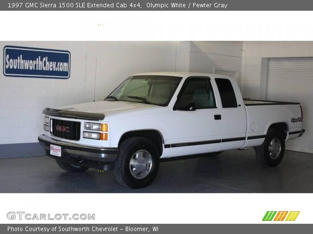 olympic white 1997 gmc sierra 1500 sle extended cab 4x4 pewter gray interior. Black Bedroom Furniture Sets. Home Design Ideas