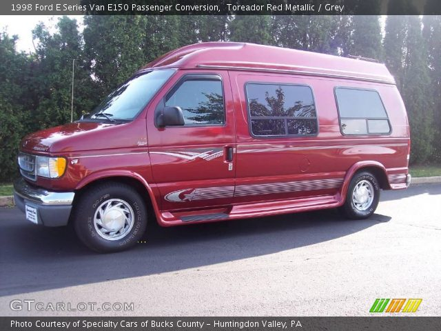 1998 Ford E Series Van E150 Passenger Conversion In Toreador Red Metallic