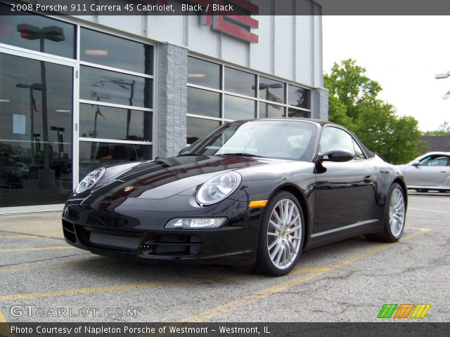 black 2008 porsche 911 carrera 4s cabriolet black. Black Bedroom Furniture Sets. Home Design Ideas