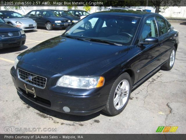 Magic Blue Metallic 2005 Volvo S60 2 5t Awd Graphite Interior