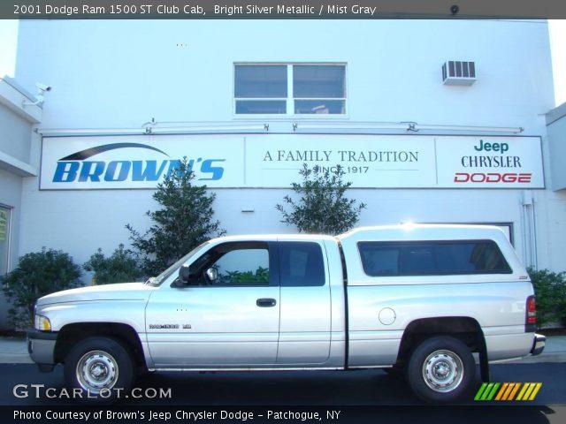 bright silver metallic 2001 dodge ram 1500 st club cab. Black Bedroom Furniture Sets. Home Design Ideas