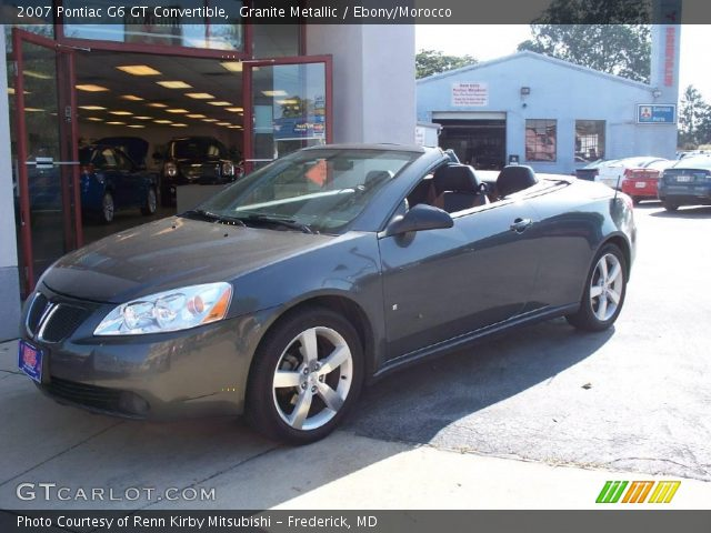 granite metallic 2007 pontiac g6 gt convertible ebony morocco interior. Black Bedroom Furniture Sets. Home Design Ideas